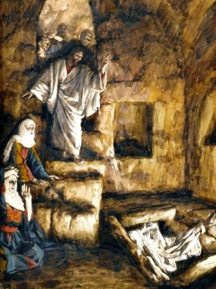 12.03.00.A JESUS SUMMONS LAZARUS FROM THE TOMB by James Tossit.