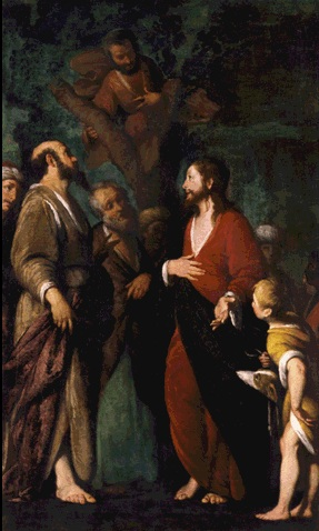12.04.00.A. THE CONVERSATION OF ZACCHAEUS by Bero Strozzi. 1625-1650.