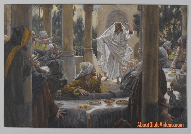 13.05.00.A. JESUS CONFRONTS THE LEADING PHARISEES by James Tossit.