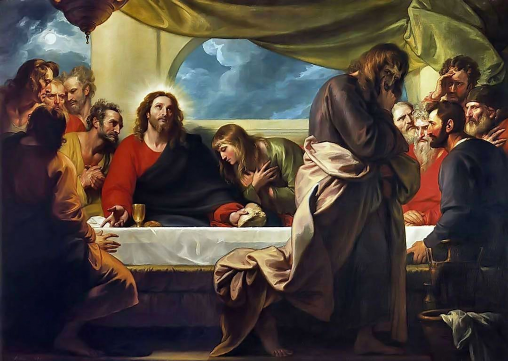 14.02.00.A. THE LAST SUPPER by Benjamin West