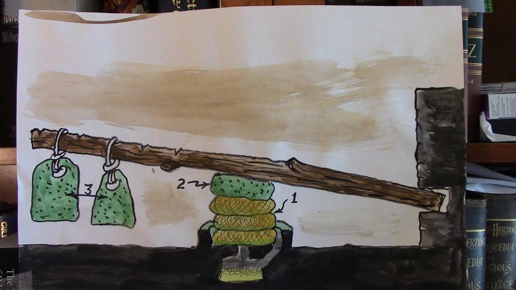 15.02.01.B. ILLUSTRATION OF A BEAM OLIVE PRESS