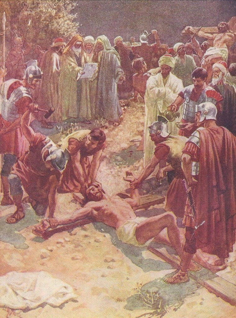 16.01.00.A. THE CRUCIFIXION OF JESUS. Artwork by William Hole of the Royal Scottish Academy of Art, 1876. (2)
