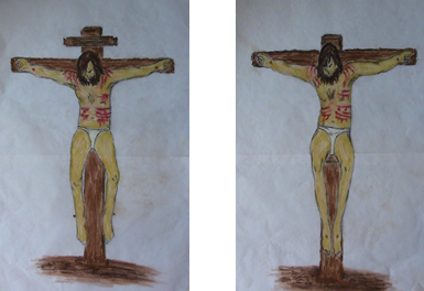 16.01.11.B. ILLUSTRATIONS 1 & 2 OF CRUCIFIXIONS. (2)