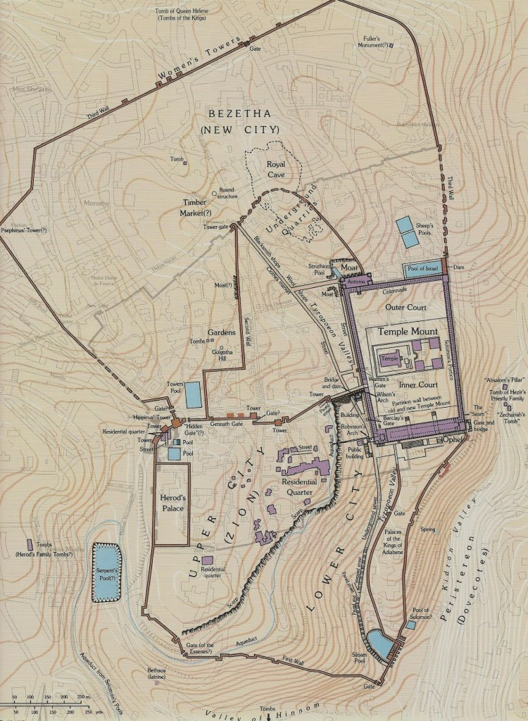 17.02.02.Z1. MAP OF JERUSALEM WITH VEGETABLE GARDENS AND HEROD AGRIPPA'S THIRD WALL (2)