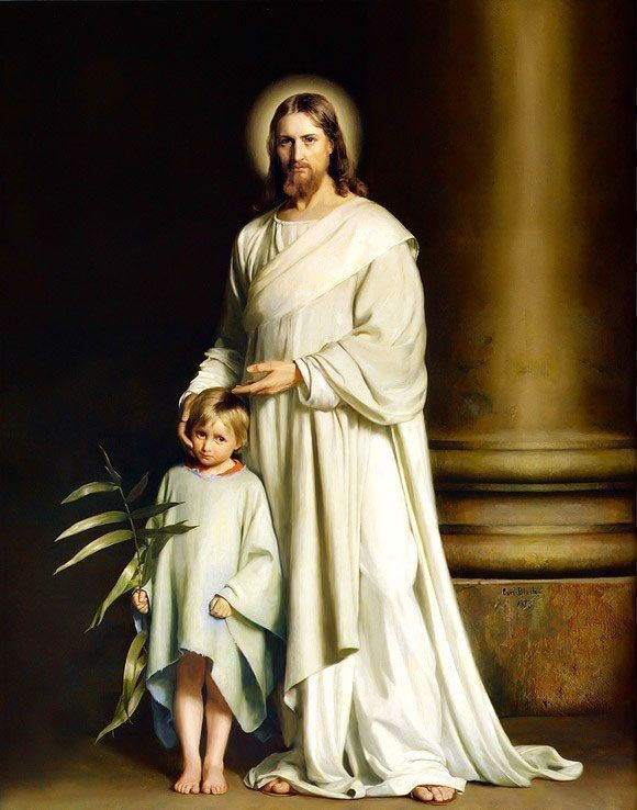 02.01.00.A. CHRIST AND THE YOUNG CHILD by Carl Bloch