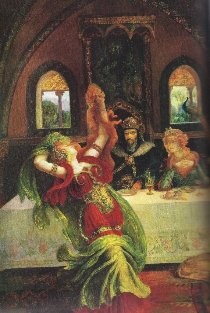 02.04.00.A. SALOME'S EXOTIC DANCE by Armand Point (1860-1932). (2)