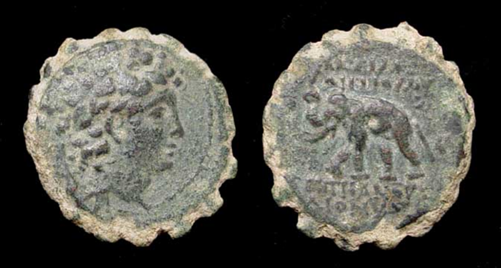 03.04.20.A. A COIN OF KING ANTIOCHUS VI