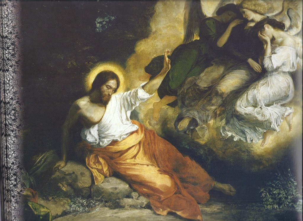 04.01.00.A. CHRIST IN THE GARDEN OF OLIVES by Eugene Delacroix, 1827