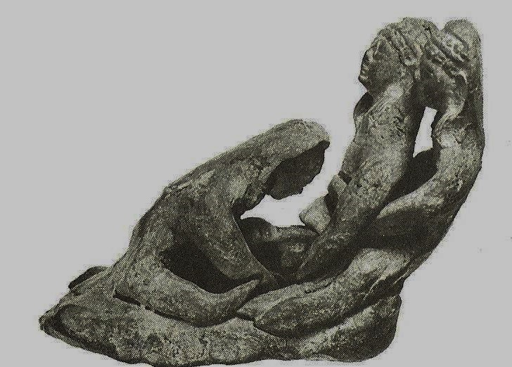 04.03.10.C. CLAY MODEL OF MOTHER IN CHILDBIRTH (2)