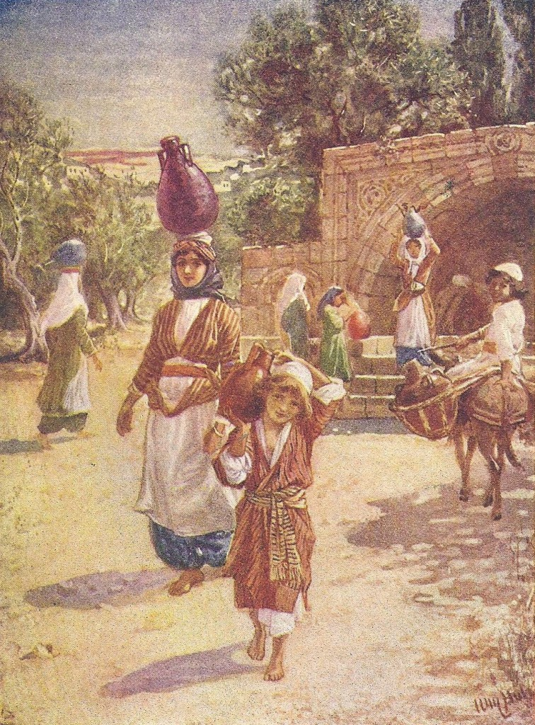 04.07.00.A. JESUS GROWING UP IN NAZARETH. Artwork by William Hole of the Royal Scottish Academy of Art, 1876. (2)