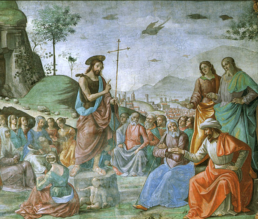05.01.00.A. THE PREACHING OF JOHN THE BAPTIST by Domenico Ghirlandaio 1475 (2)