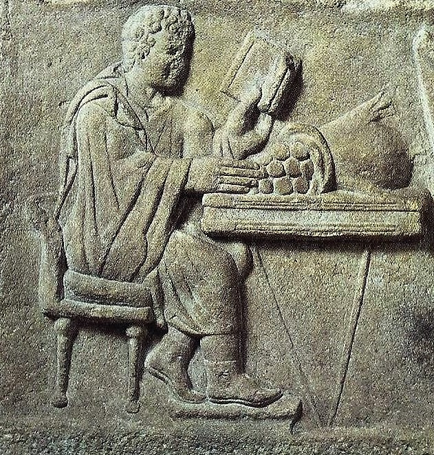 05.05.04.D. A ROMAN RELIEF OF A BANKER AT WORK (2)