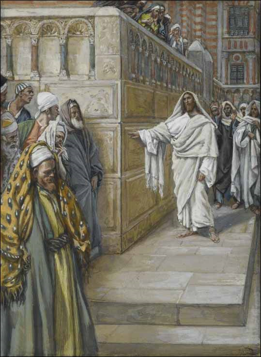 07.03.00.A. CORNERSTONE. Illustration by James Tissot. 1891