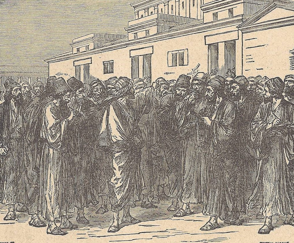 08.01.00.A. JESUS WARNS THE JEWISH LEADERS. Illustration by Godfrey Durand, 1896 (2)