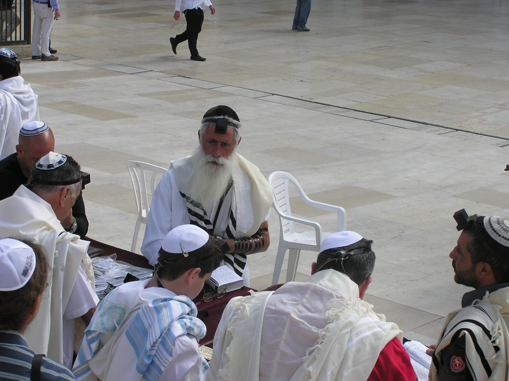 08.06.05.A. A RABBI WITH PHYLACTERY AND PRAYER SHAWL