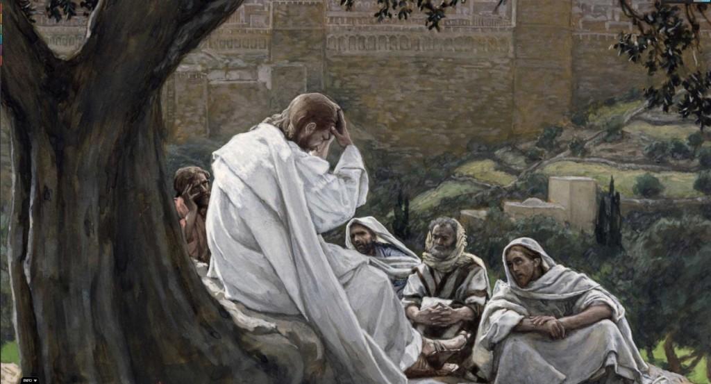 09.01.00.A. JESUS FORETELLS THE DESTRUCTION OF JERUSALEM by James Tissot. (2)