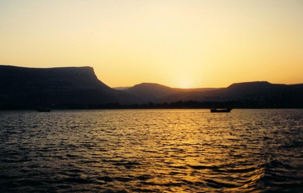 09.01.03.A. A PEACEFUL SEA OF GALILEE AT SUNSET