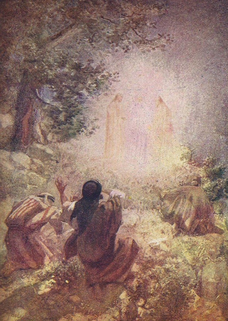 11.01.00.A. THE TRANSFIGURATION OF JESUS. Artwork by William Hole of the Royal Scottish Academy of Art, 1876. (2)